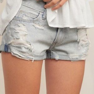 Abercrombie & Fitch Distressed Jean Shorts Sz 27